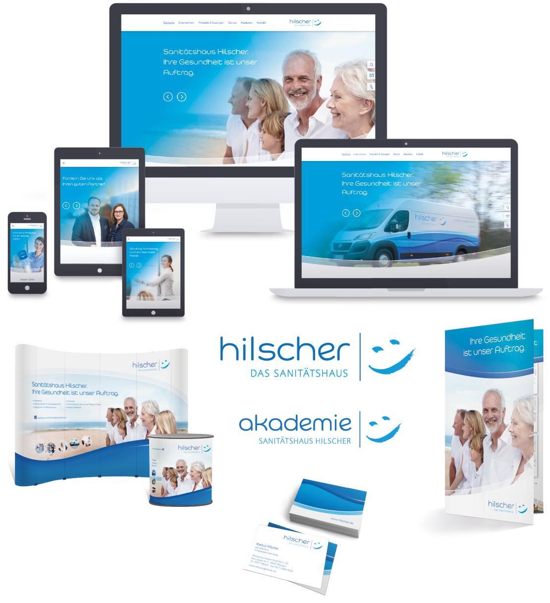 Sanitätshaus Hilscher – Sammlung umgesetzter Werbemittel