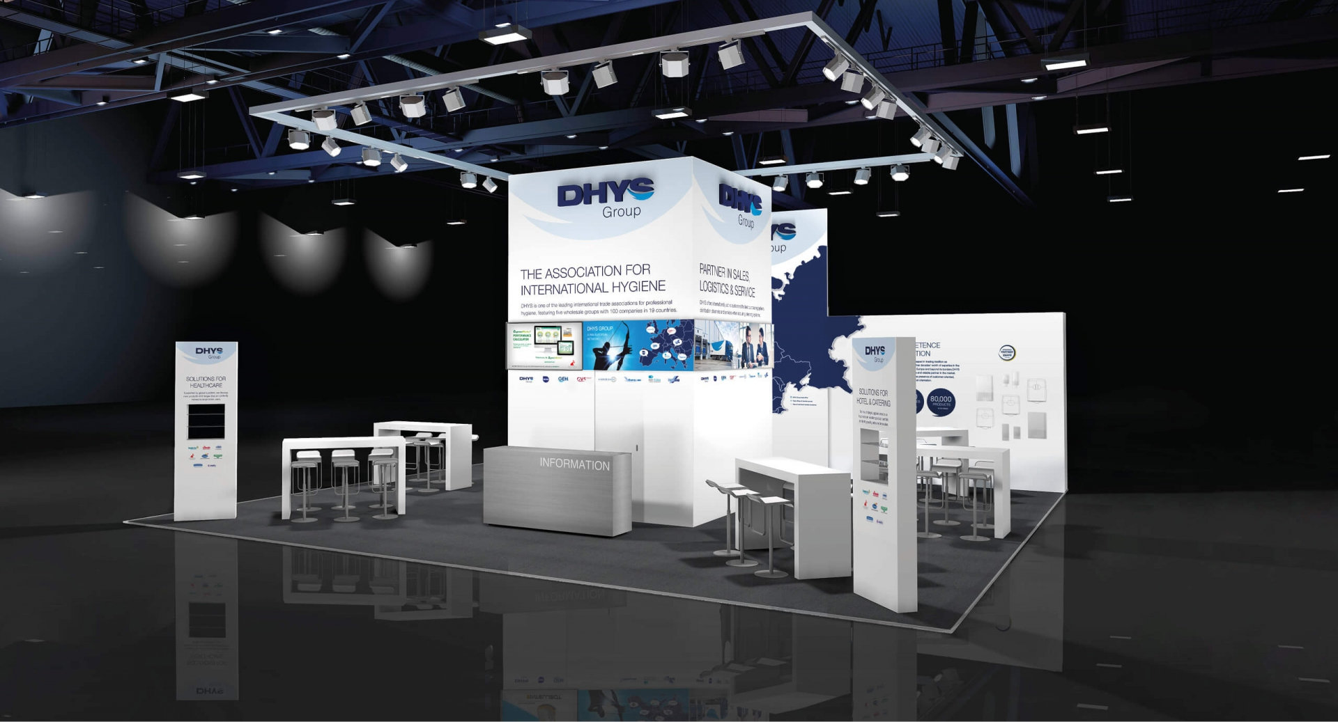 DHYS Group Messestand Interclean