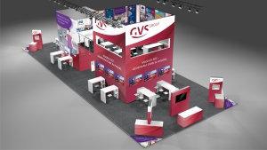 das neue Standkonzept der GVS Group