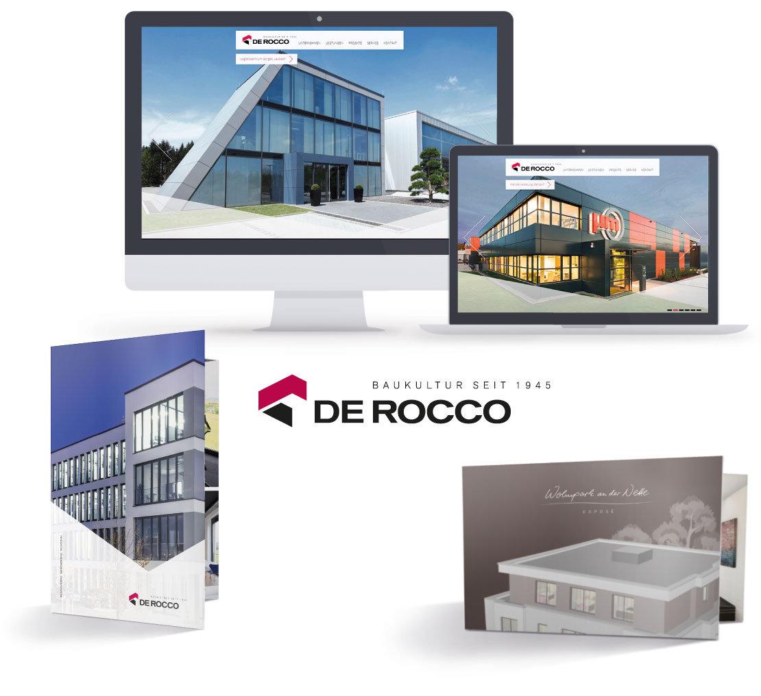 De Rocco – Website, Flyer und Broschüre