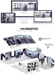 Numatic Deutschland – Website, Erklärvideo, Katalog, Messestand und Logo