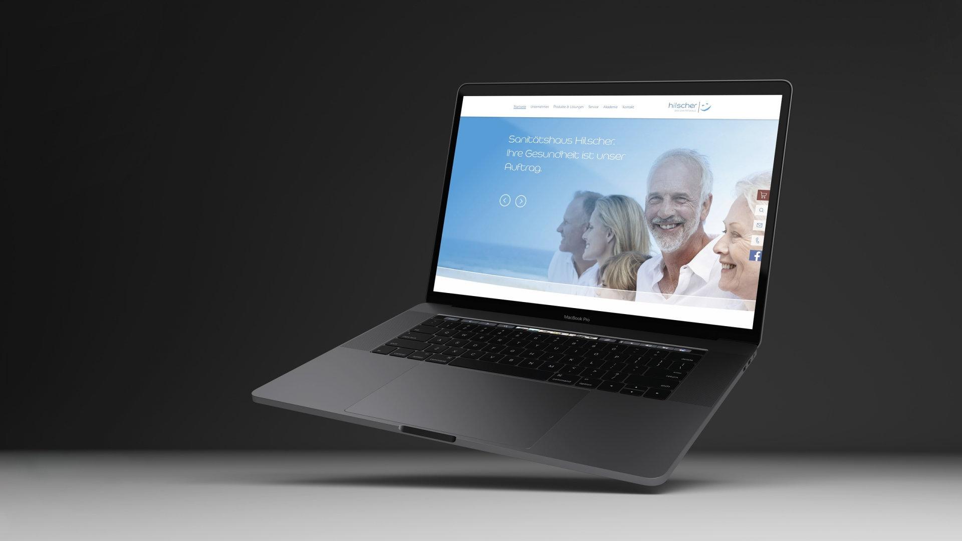 Sanitätshaus Hilscher – neuer Internetauftritt Viewport MacBook