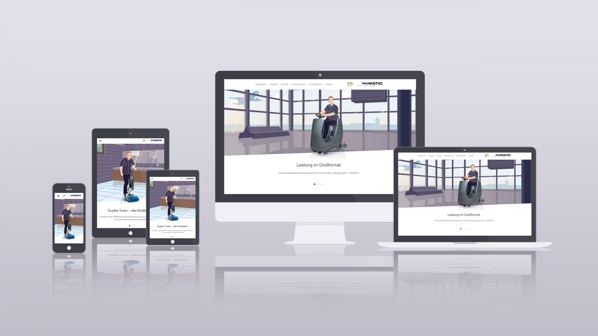 Numatic Website Relaunch – responsive Viewports